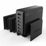 *SALE* 6 Port 50W Quick Charge 2.0 Desktop USB Charger with Detachable Docking Stations - Black