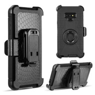 Anti-Shock Heavy Duty Hybrid Case with Holster for Samsung Galaxy Note 9 - Black