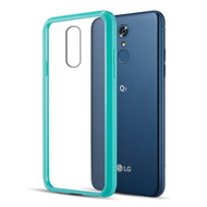 Polymer Transparent Hybrid Case for LG Q7 Plus - Teal Green