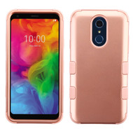 Military Grade Certified TUFF Hybrid Armor Case for LG Q7 Plus - Rose Gold