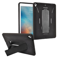 Dual Layer Hybrid Armor Case with Kickstand for iPad (2018/2017) - Black