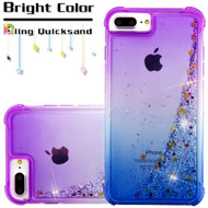 Confetti Quicksand Glitter Transparent Case for iPhone 8 Plus / 7 Plus / 6S Plus / 6 Plus - Gradient Blue