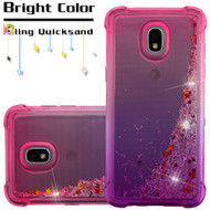 Confetti Quicksand Glitter Electroplating Transparent Case for Samsung Galaxy J3 (2018) - Hot Pink Purple