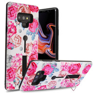 Finger Loop Case with Kickstand for Samsung Galaxy Note 9 - Victorian Flower