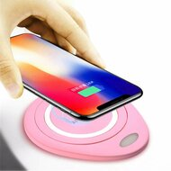 Wireless Charger Qi Inductive Charging Pad - Pink