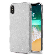 Tuff Full Glitter Hybrid Protective Case for iPhone XS Max - Silver