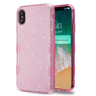 Tuff Full Glitter Hybrid Protective Case for iPhone XS Max - Pink