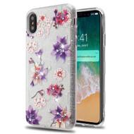 Tuff Full Glitter Diamond Hybrid Protective Case for iPhone XS Max - Purple Stargazers