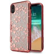 Tuff Lite Quicksand Electroplating Case for iPhone XS Max - Hibiscus Flower