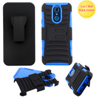 Advanced Armor Hybrid Kickstand Case with Holster for LG Q7 Plus -  Blue