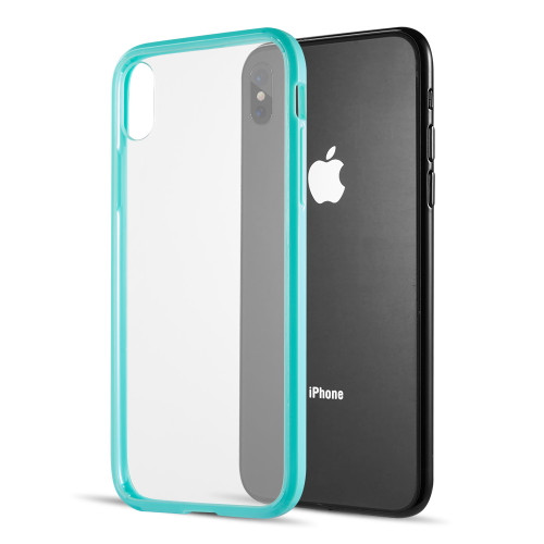 Polymer Transparent Hybrid Case For Iphone Xs Max Teal