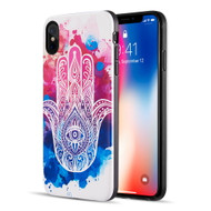 Art Pop Series 3D Embossed Printing Hybrid Case for iPhone XS Max - Mandala