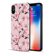 Art Pop Series 3D Embossed Printing Hybrid Case for iPhone XS Max - Sakura