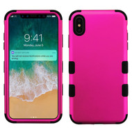 Military Grade Certified TUFF Hybrid Armor Case for iPhone XS Max - Hot Pink