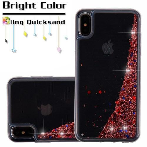 Sale Quicksand Glitter Transparent Case For Iphone Xs Max Rose