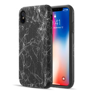 Splash Ink Tactile Surface Hybrid Armor Case for iPhone XS Max - Black