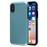 Carbon Fiber Hybrid Case for iPhone XS / X - Blue