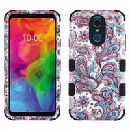 Military Grade Certified TUFF Hybrid Armor Case for LG Q7 Plus - Persian Paisley
