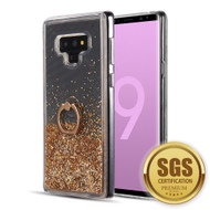 Quicksand Glitter Case with Smart Loop Ring Holder for Samsung Galaxy Note 9 - Gold