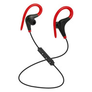 *SALE* Bluetooth V4.1 Wireless In-Ear Earhook Sport Headphones with Mic - Red