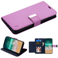 Essential Leather Wallet Stand Case for iPhone XS Max - Purple