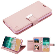 Essential Leather Wallet Stand Case for iPhone XS Max - Rose Gold