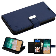 Essential Leather Wallet Stand Case for iPhone XS Max - Navy Blue