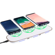 *SALE* Triple Coils Multi Qi Wireless Charging Pad + Dual USB Charger Port - White