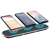 *SALE* Triple Coils Multi Qi Wireless Charging Pad + Dual USB Charger Port - Black