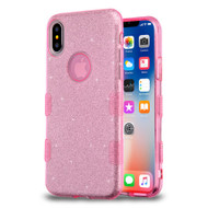 Tuff Full Glitter Hybrid Protective Case for iPhone XS / X - Pink