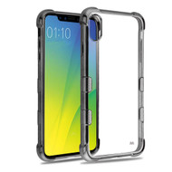 TUFF Klarity Electroplating Transparent Anti-Shock TPU Case for iPhone XS Max - Gunmetal