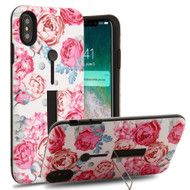 Finger Loop Case with Kickstand for iPhone XS Max - Victorian Flower