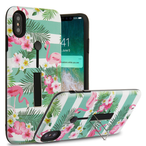 best service d5dc8 45fef Finger Loop Case with Kickstand for iPhone XS Max - Tropical ...