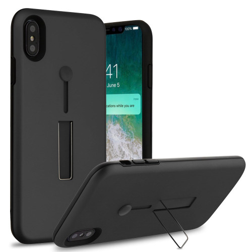 Finger Loop Case With Kickstand For Iphone Xs Max Black