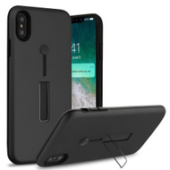 Finger Loop Case with Kickstand for iPhone XS Max - Black