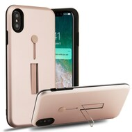 Finger Loop Case with Kickstand for iPhone XS Max - Rose Gold