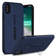 Finger Loop Case with Kickstand for iPhone XS Max - Navy Blue