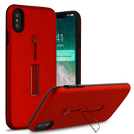 Finger Loop Case with Kickstand for iPhone XS Max - Red