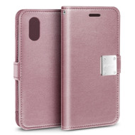 Essential Leather Wallet Case for iPhone XS Max - Rose Gold