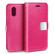 Essential Leather Wallet Case for iPhone XS Max - Hot Pink
