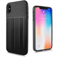 Double Texture Anti-Shock Hybrid Protection Case for iPhone XS Max - Black