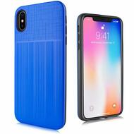 Double Texture Anti-Shock Hybrid Protection Case for iPhone XS Max - Blue