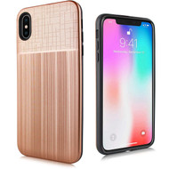 *Sale* Double Texture Anti-Shock Hybrid Protection Case for iPhone XS Max - Rose Gold