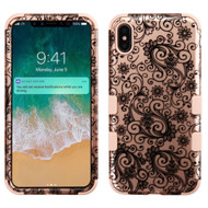 Military Grade Certified TUFF Hybrid Armor Case for iPhone XS Max - Leaf Rose Gold