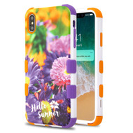 Military Grade Certified TUFF Hybrid Armor Case for iPhone XS Max - Chrysanthemum Field