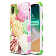 Military Grade Certified TUFF Hybrid Armor Case for iPhone XS Max - Ice Cream Scoops