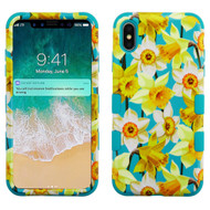 Military Grade Certified TUFF Hybrid Armor Case for iPhone XS Max - Spring Daffodils