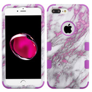 Military Grade Certified TUFF Hybrid Armor Case for iPhone 8 Plus / 7 Plus - Marble Pink