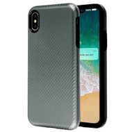 Carbon Fiber Hybrid Case for iPhone XS Max - Grey