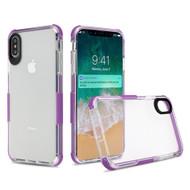 Transparent Protective Bumper Case for iPhone XS Max - Purple